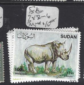 SUDAN  (PP0410B)  RHINCEROUS SC   282-6   MNH