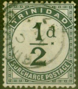 Trinidad 1885 1/2d Slate-Black SGD1 Fine Used
