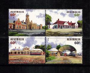Historic Rail Stations  Australia  4 var,..mnh