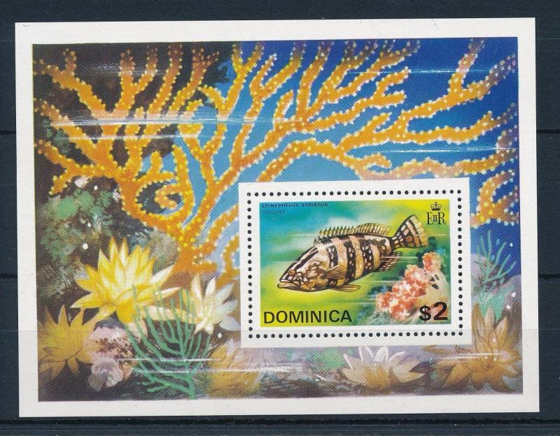 Dominica MNH S/S Marine Life Fish 1975