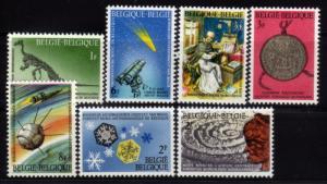 BELGIUM # 664-70 MNH NATIONAL SCIENTIFIC HERITAGE (646-3)