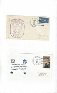 US Navy USS Richmond K. Turner DLG 20, 2 Covers, Commission
