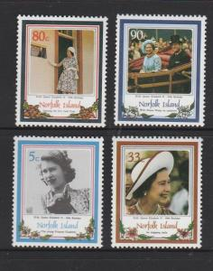 Norfolk Island 1986 60th Birthday QE2 UM SG 389/92