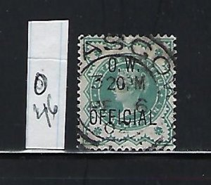 GREAT BRITAIN SCOTT #O46 1901-02 OFFICE OF WORKS OVPT. 1/2P (BLUE GREEN) USED