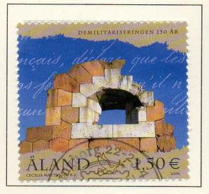 Aland Finland Sc  246 2006 Demilitarization stamp  used