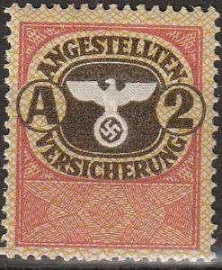 Stamp Germany Revenue WW2 FascismWar Occupation Medical Insurance A2 MNH