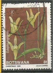 BOTSWANA, 1989, used 8t, Orchids, Scott 464