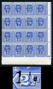 Cayman Is SG54 1.5d on 2.5d Type 15 9/4 and 9/5 Missing Fraction BAR U/M
