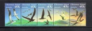 Christmas Island 349,  Strip of 5, VF,  MNH,  CV $3.75  ..... 1370064/A/B/C