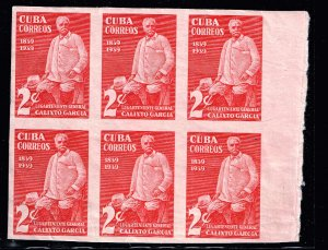 CUBA STAMP 1939 The 100th Anniversary of Gen. Calixto Garcia MH/OG  BLK  OF 6