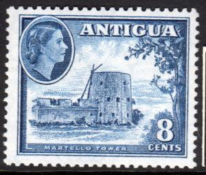 Antigua QEII 1953 8c Deep Blue SG127 Mint Never Hinged MNH UMM