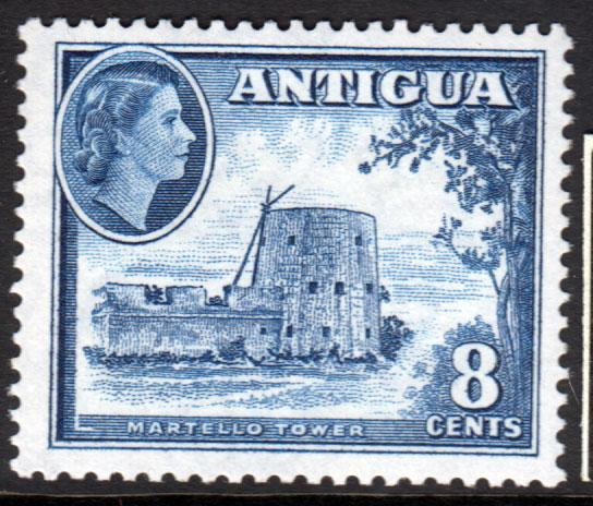 Antigua QEII 1953 8c Deep Blue SG127 Mint Never Hinged MNH UMM