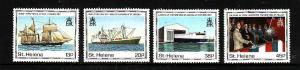 St Helena-Sc#535-8-unused NH set-Ships-1990-