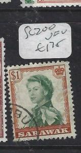 SARAWAK  (P2704B)  QEII   $1.00  SG 200   VFU