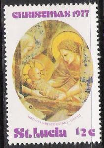 St Lucia #427 Christmas MNH
