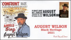21-041, 2021, August Wilson, First Day Cover, Pictorial Postmark, Black Heritage