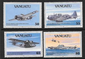 VANUATU SG592/5 1992 50th ANNIV OF THE PACIFIC WAR  MNH