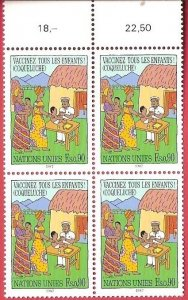 1987 United Nations Geneva Immunize Every Child SC# 160-161 Mint