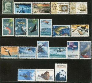 AUSTRALIAN ANTARCTIC AAT Sc#L7//L56 1961-83 Six Different Sets OG Mint Most NH