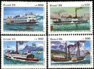 Brazil 1985 Ferry Ships Rio de Janeiro set (4) Perforated mnh.vf