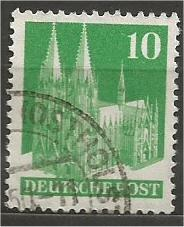 GERMANY, 1948, used 10pf green, Cologne Scott 641