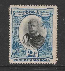 Tonga a MH 2.5d from 1897 with missing fraction bar
