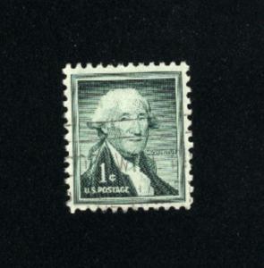 USA #1031  6 used 1954-1968 PD .08