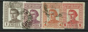 Uruguay SC# 501 - 504 Used - S11952