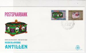 Netherlands Antillen 1980 Postspaarbank Slogan Cancel FDC Stamps Cover Ref 25221