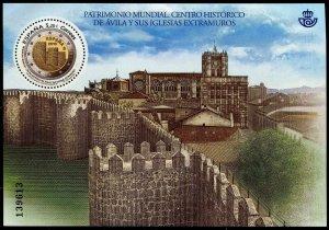 HERRICKSTAMP NEW ISSUES SPAIN World Heritage, Avila S/S