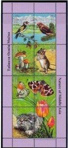 Tajikistan 2002 mushrooms butterflies birds wild cats etc  klb MNH