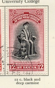 St Lucia 1951 GVI Early Issue Fine Used 12c. NW-154991