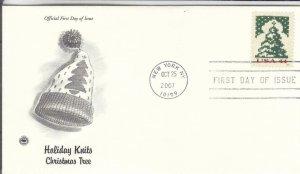 2007, Holiday Knits-Christmas Tree, PCS, FDC (E8012)