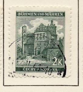 Germany Czechoslovakia 1940 Early Issue Fine Used 2k. 116460