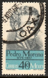 MEXICO 987, Pedro Moreno Hero War for Independence Used. VF. (1226)