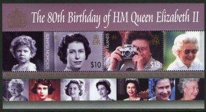 Solomon Islands MNH S/S 1043 Queen Elizabeth II 80th Birthday SCV 12.00