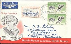 NZFD741 New zealand health cover 1967 FDC $4.00
