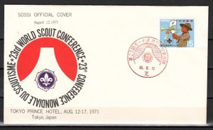 Japan, Scott cat. 1090. Scout Conference, SOSSI Official Cover. ^