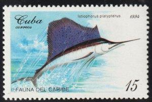 1994 Cuba Stamps Sc 3606 Fish Istiophorus platypterus MNH