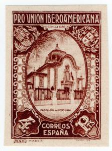 (I.B) Spain Postal : Ibero-American Exhibition 4Pta (proof)