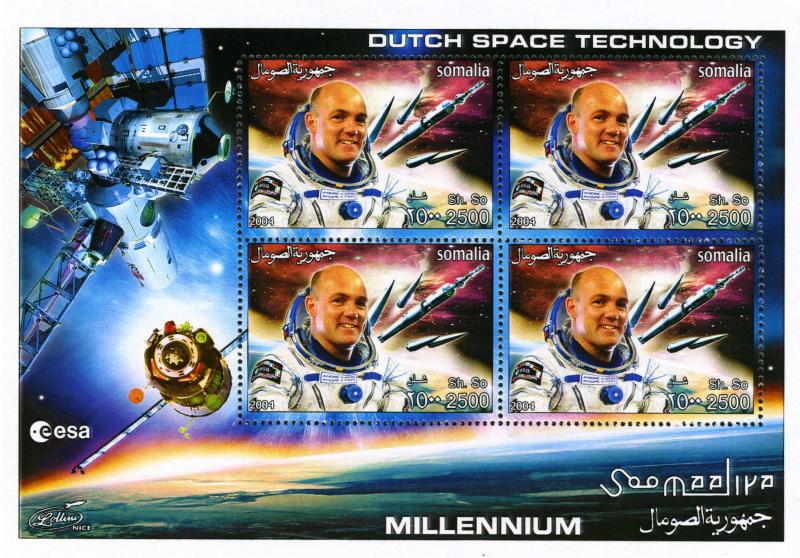 Somalia 2004 Dutch Space Technology Sheet Perforated mnh.vf