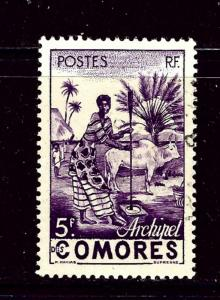 Comoro Is 34 Used 1950 issue