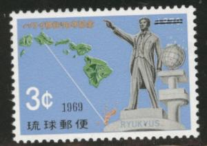 RYUKYU (Okinawa) Scott 192 MNH** 1969 map stamp