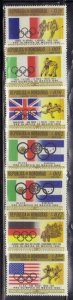 Honduras C429-35 Olympics and Flags Mint NH