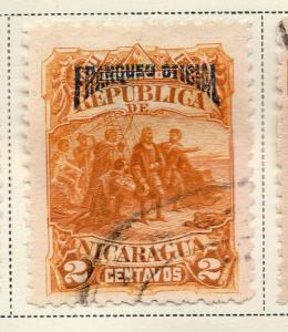 Nicaragua 1892 Early Issue Fine Used 2c. Official Optd 323707