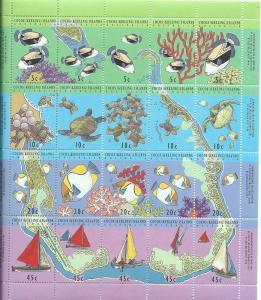 Cocos Islands #292f Reef Life (MNH)  CV $11.00