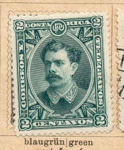 Costa Rica 1899 Early Issue Fine Mint Hinged 2c. NW-09188