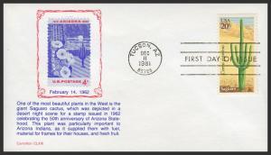 US FDC #1942-1945 4x20c Desert Plants Issue - Carrollton Cachet