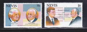 Nevis 763, 773 MNH Conrad Adenauer