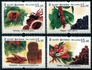 HERRICKSTAMP NEW ISSUES SRI LANKA Sc.# 2176-79 Spices